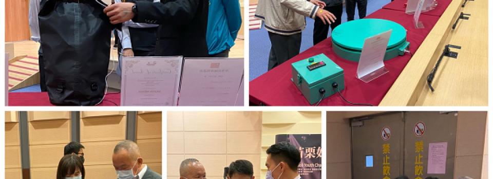109年度優秀青年表揚-仁德醫專發明展獲獎師生接受縣長徐耀昌表揚。